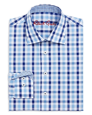 Robert Graham Boys Large Check Dress Shirt  Big Kid