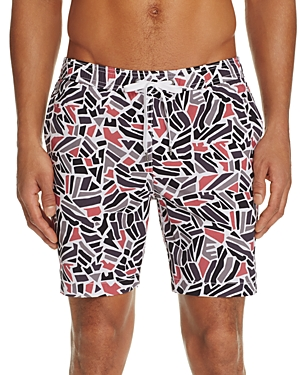 Onia Charles Mosaic Print Swim Trunks - 100% Exclusive