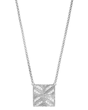 John Hardy Sterling Silver Modern Chain Diamond Square Pendant Necklace, 16