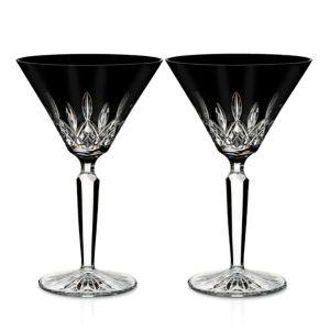 Waterford Lismore Black Martini, Set of 2