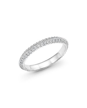 Diamond Micro Pave Knife Edge Eternity Band in 14K White Gold, .30 ct. t.w. - 100% Exclusive 1832482
