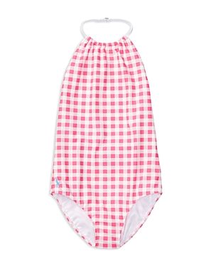 Ralph Lauren Childrenswear Girls' Gingham One Piece Swimsuit - Big Kid