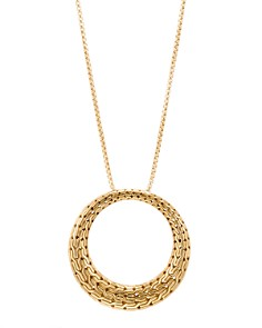 """John Hardy 18K Yellow Gold Classic Chain Round Pendant Necklace, 36"""" - Bloomingdale's_0"""