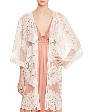 En Creme Lace Kimono Jacket - 100% Exclusive