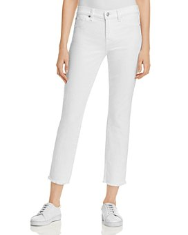 7 For All Mankind - Roxanne Raw Hem Ankle Jeans in White Fashion