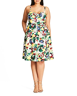 New City Chic Fruit Salad Dress, Ivory