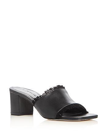 f7526901593339 Bernardo Women s Blossom Leather Block Heel Slide Sandals ...
