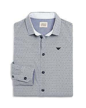 Armani Boys' Logo & Circle Dress Shirt - Little Kid, Big Kid