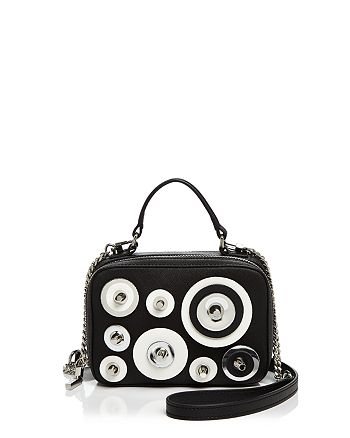 MILLY - Disc Mini Saffiano Leather Satchel