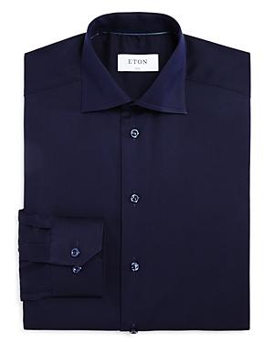 Eton of Sweden Textured Solid Slim Fit Dress Shirt