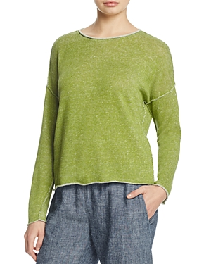 Eileen Fisher Drop Shoulder Organic Linen Sweater
