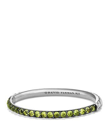 David Yurman Osetra Bangle Bracelet With Peridot