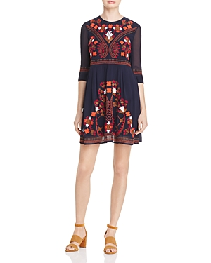 French Connection Kiko Embroidered Dress - 100% Exclusive