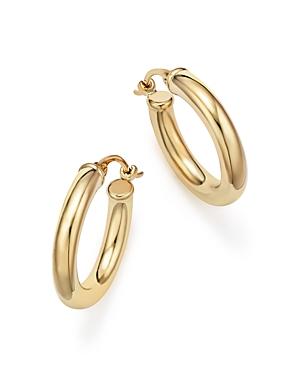 14K Yellow Gold Tube Hoop Earrings - 100% Exclusive