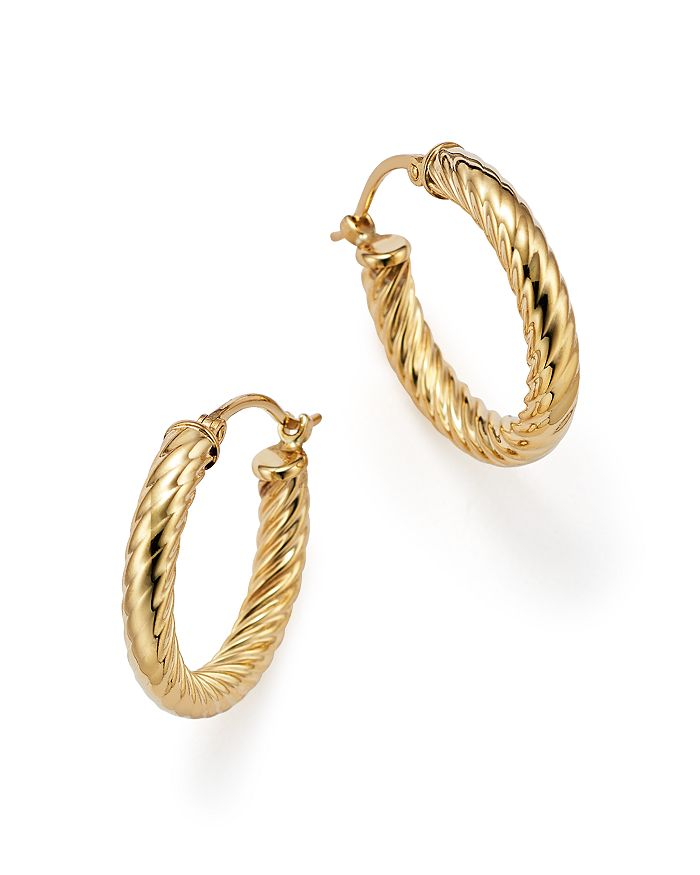 Bloomingdale's - Small Twist Hoop Earrings in 14K Gold - 100% Exclusive