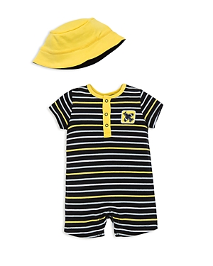 Offspring Boys' Striped Airplane Romper & Hat Set - Baby