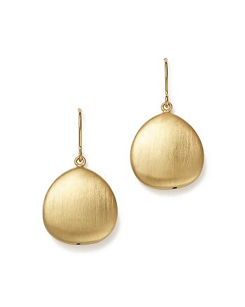 Bloomingdale's - 14K Yellow Gold Satin Finish Drop Earrings - 100% Exclusive