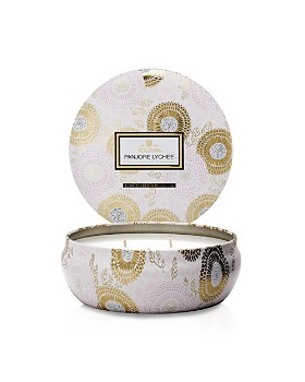 Voluspa - Japonica Panjore Lychee 3 Wick Candle in Decorative Tin
