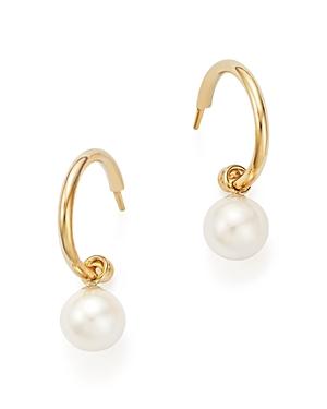 Cultured Freshwater Pearl Huggie Hoop Earrings in 14K Yellow Gold, 6mm - 100% Exclusive
