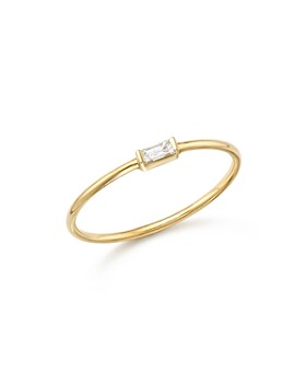 Zoë Chicco - Zoë Chicco 14K Yellow Gold Diamond Baguette Ring