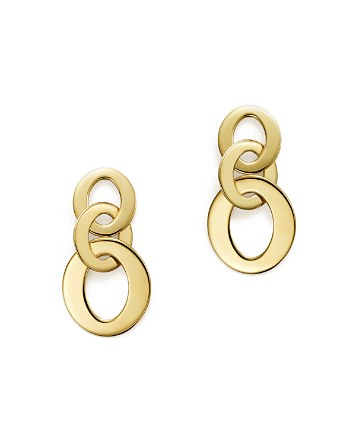 $Roberto Coin 18K Yellow Gold Chic & Shine Circle Earrings - Bloomingdale's