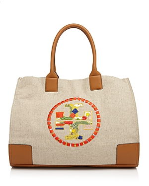 Tory Burch Ella Embroidered Logo Tote