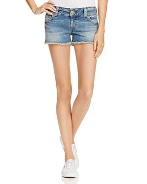 True Religion Keira Cutoff Shorts in Gypset Blue