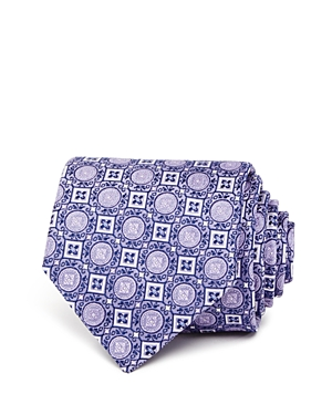 The Men's Store at Bloomingdale's Diamond Medallion Classic Tie - 100% Exclusive