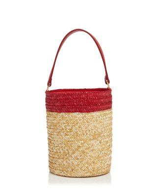 $Caterina Bertini Small Straw Bucket Bag - Bloomingdale's