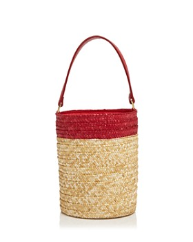 Caterina Bertini - Small Straw Bucket Bag