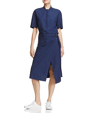 Dkny Pure Short Sleeve Half Placket Wrap Dress