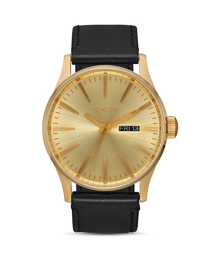 Nixon - Sentry Leather Watch, 42mm