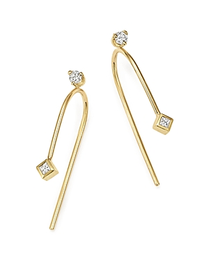 Zoe Chicco 14K Yellow Gold Wire Earrings with Diamonds