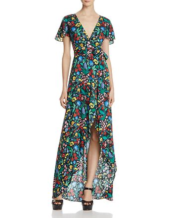 Alice and Olivia - Adrianna Faux-Wrap Maxi Dress