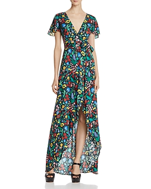 Alice + Olivia Adrianna Faux-Wrap Maxi Dress