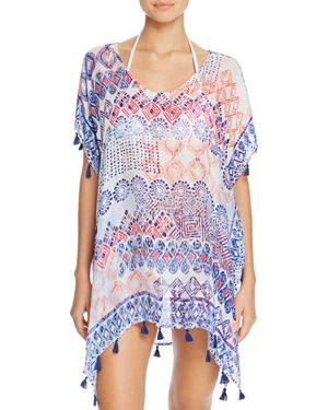 Surf Gypsy Grecian Tassel Tunic Swim Cover-Up