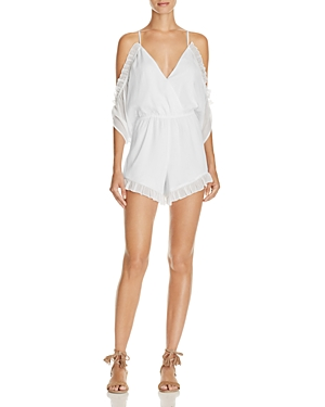 Lovers and Friends Malia Ruffled Cold Shoulder Romper - 100% Exclusive