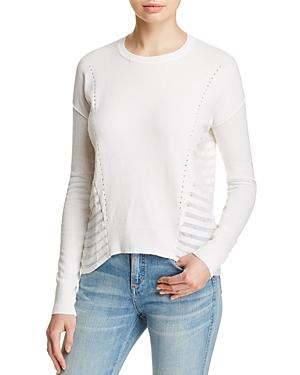 One Grey Day Darby Illusion Stripe Sweater