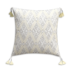 cupcakes and cashmere Tribal Geo Embroidered Decorative Pillow, 18 x 18
