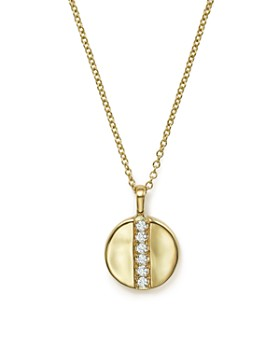 IPPOLITA - IPPOLITA 18K Glamazon® Stardust Mini Disc Pendant Necklace with Diamonds, 16""