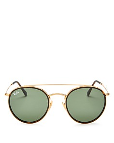 Ray-Ban - Unisex Icons Brow Bar Round Sunglasses, 51mm