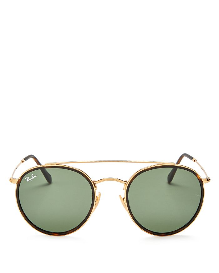 Ray-Ban - Unisex Icons Retro Brow Bar Round Sunglasses, 51mm