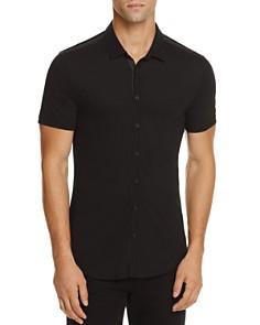 John Varvatos Collection Pima Cotton Knit Slim Fit Button-Down Shirt - Bloomingdale's_0