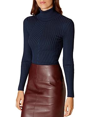 Karen Millen Ribbed Turtleneck Sweater