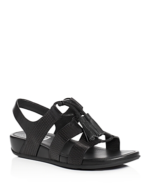 FitFlop Gladdie Perforated Lace Up Demi Wedge Sandals