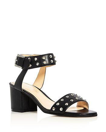 IVANKA TRUMP - Women's Itelonna Studded Ankle Strap Block Heel Sandals