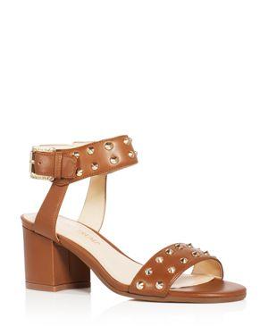 Ivanka Trump Itelonna Studded Ankle Strap Block Heel Sandals