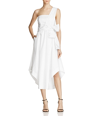 Kendall and Kylie One Shoulder Wrap Dress