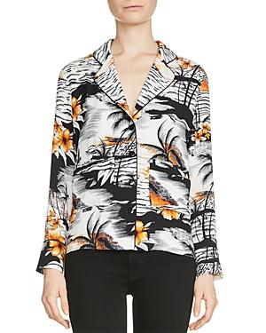 Maje Chat Hawaiian-Print Shirt