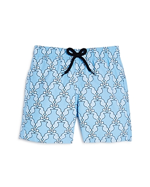 Vilebrequin Boys' Geometric Sea Horse Swim Trunks - Big Kid